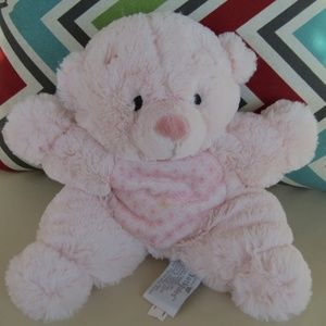 NAT & JULES PINK RATTLE TEDDY